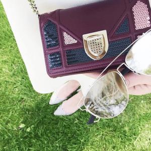 Dior Purple with Sequins Diorama Mini Bag