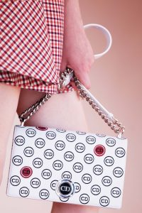Dior White Logo Patterned Diorama Bag - Cruise 2016