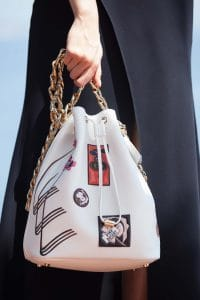 Dior White with Patchwork Bucket Bag - Cruise 2016