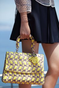 Dior Yellow/Pink Chain Print Be Dior Bag - Cruise 2016