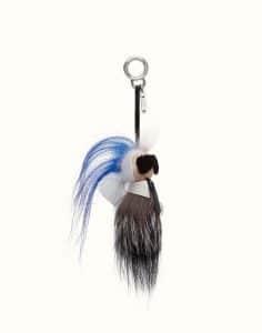 Fendi Blue Mini Karlito Bag Charm