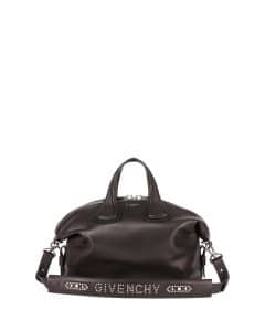 Givenchy Black Stud-Strap Nightingale Medium Bag