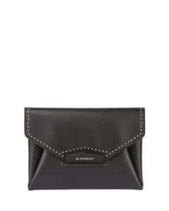 Givenchy Black Studded Antigona Clutch Bag