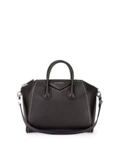 Givenchy Black Studded Antigona Medium Bag