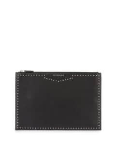 Givenchy Black Studded Antigona Zipped Clutch Bag