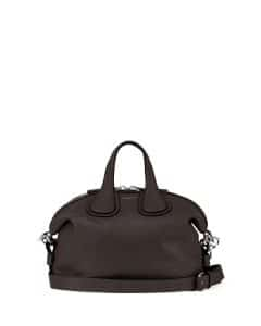Givenchy Black Waxy Leather Nightingale Small Bag