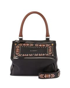 Givenchy Black/Brown Geometric Embellished Pandora Small Bag