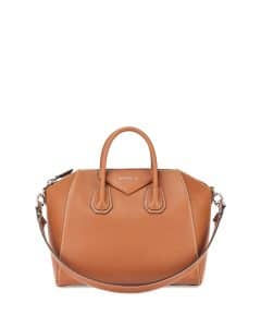 817a577ad5 ... Givenchy Camel Smooth Leather with Topstitching Antigona Medium Bag ...