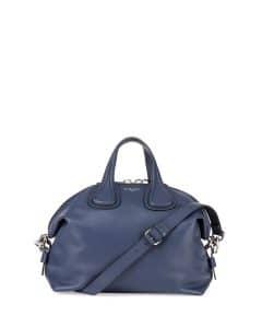 Givenchy Dark Blue Waxy Leather Nightingale Medium Bag
