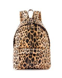Givenchy Leopard Print Antigona Nylon Backpack Bag