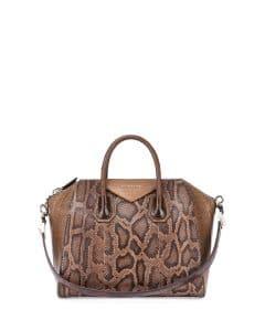 Givenchy Light Brown Antigona Mixed-Exotic Bag