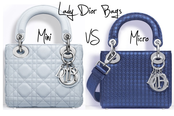69c54999a4a Bag Versus  Lady Dior Bags - Mini versus Micro   Spotted Fashion