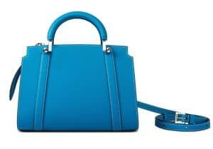 Moynat Blue Petite Ballerine Bag
