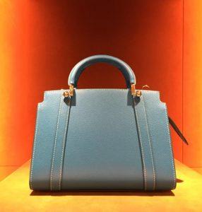 Moynat Light Blue Petite Ballerine Bag