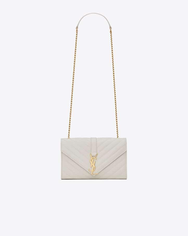 54ace3963eed Monogram College Medium Chain Satchel Black. Saint Laurent Dove White  Matelasse Monogram Satchel Small Bag