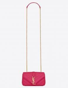 Saint Laurent Lipstick Fuchsia Matelasse Monogram Satchel Baby Bag
