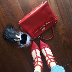 The Blonde Salad - Hermes Red Kelly Bag