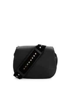 Valentino Black Band Rockstud Messenger Bag