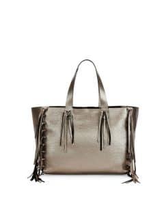 Valentino Bronze Metallic C-Rockee Fringe Tote Bag