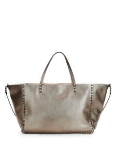 Valentino Bronze Rockstud Reversible Tote Bag