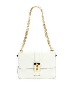 Valentino Ivory B-Rockstud Flap Bag