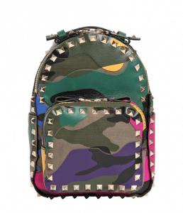 Valentino Multicolor Camouflage Rockstud Backpack Mini Bag