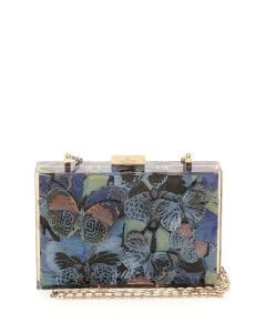 Valentino Multicolor Camu Butterfly-Print Box Clutch Bag