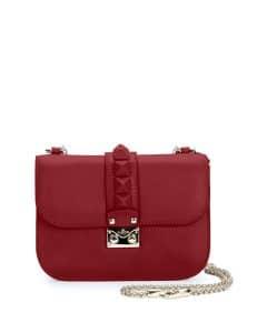 Valentino Red Rockstud Flap Small Bag