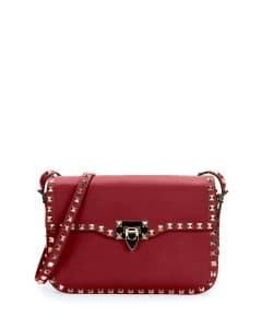 Valentino Red Rockstud Round Flap Bag