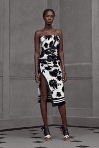 Balenciaga Black/White Floral Tube Dress - Resort 2016