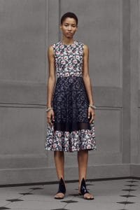 Balenciaga Blue Floral Dress - Resort 2016