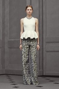 Balenciaga Green Floral Trousers - Resort 2016