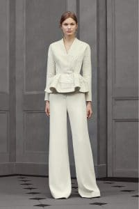 Balenciaga White Peplum Jacket - Resort 2016