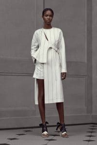 Balenciaga White Striped Coat - Resort 2016