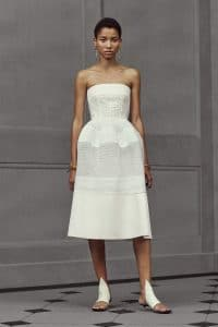 Balenciaga White Tube Dress - Resort 2016