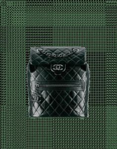 Chanel Black Calfskin Backpack Mountain Bag