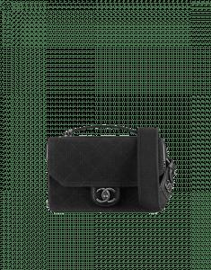 Chanel Black Fabric Flap Small Bag