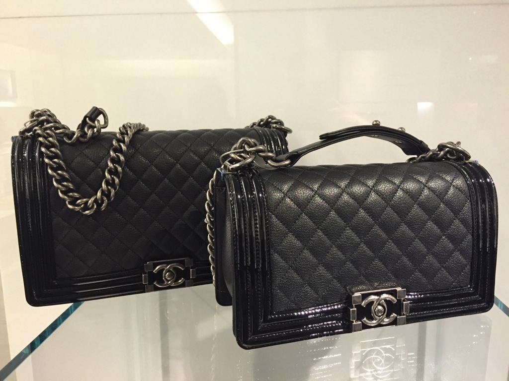 e4bb25eeb84 Chanel Boy Bag with Patent Trim and Goatskin from Pre-Fall 2015 ...