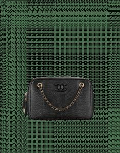 Chanel Black Lizard Camera Case Bag