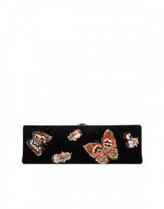 Chanel Black with Butterfly Embroideries Clutch Bag