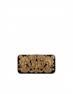Chanel Black with Gold Embroideries Minaudiere Bag
