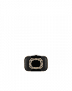 Chanel Black with Ribbon and Strass Minaudiere Bag