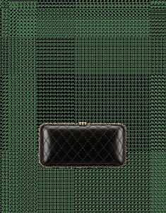 Chanel Black/Gold Lambskin Minaudiere Bag