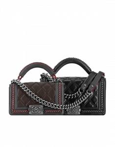 Chanel Brown and Black Boy Chanel Handle Flap Small and Medium Bags