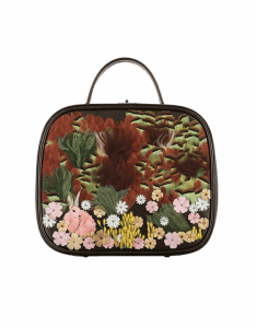 Chanel Brown with Embroideries Vanity Case Bag