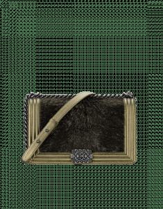 Chanel Gold Calf Hair Boy Chanel in Salzburg Flap New Medium Bag