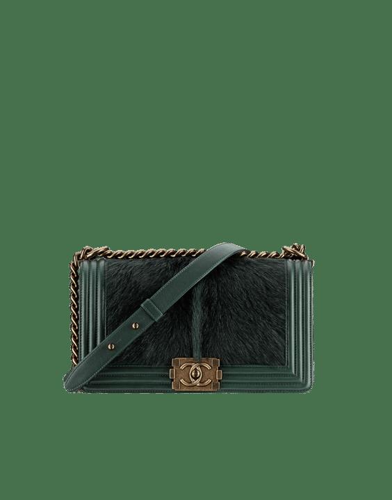 Chanel Green Calf Hair Boy Chanel in Salzburg Flap Classic Medium Bag 17d45d7682314