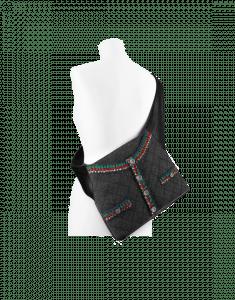 Chanel Grey Felt/Lambskin Girl Chanel Bag