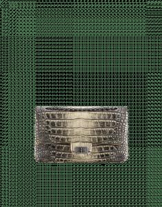 Chanel Grey/White Alligator 2.55 Reissue 225 Flap Bag