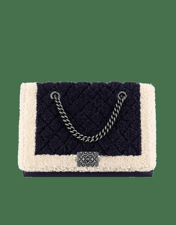 ... Flap Classic Medium Bag · Chanel Ivory Black Shearling Boy Chanel in  Salzburg Large Shopping Bag 482cb62d8a68e
